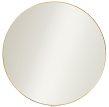Polished Brass Mirror